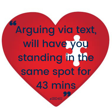 Silverlinging arguing via text